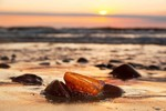 Baltic Sea is famous for its amber fragments that are often washed up on beaches, appearing in a variety of shades which characterise Latvia