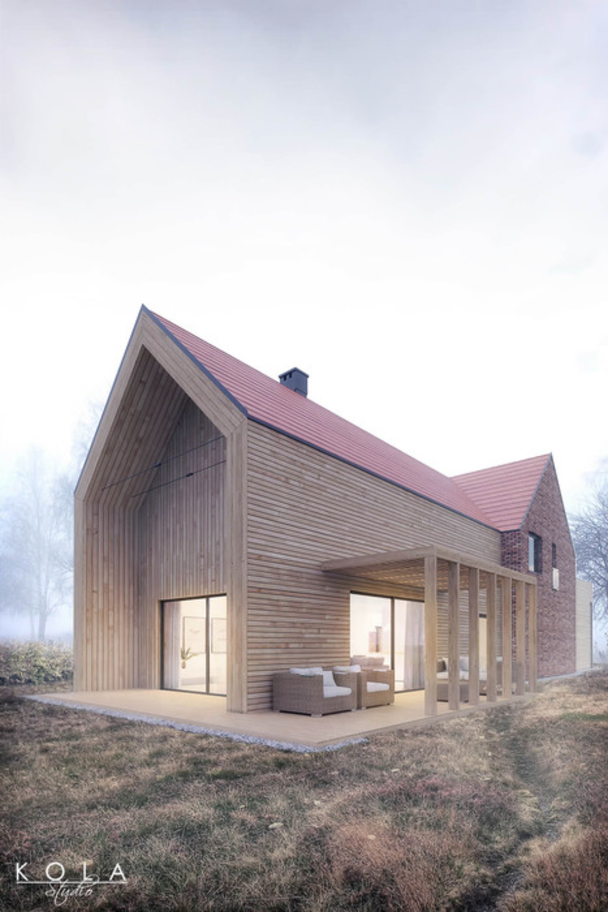 Projekty Domow Jednorodzinnych Nowoczesny Dom W Stylu Stodola