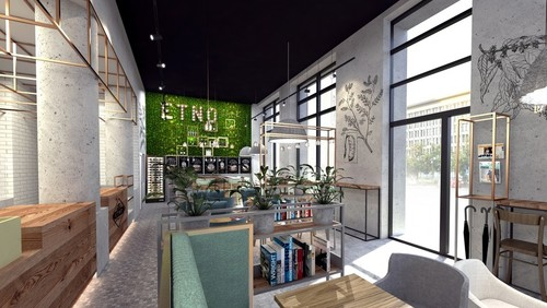 Etno Cafe, projekt: Forbis Group